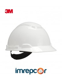Casco De Proteccion H-701r Casco 3M Con Sistema Ratchet Blanco